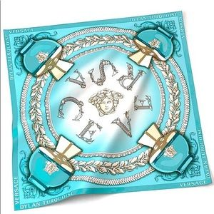 Versace Dylan Turquoise Silk Scarf NWT